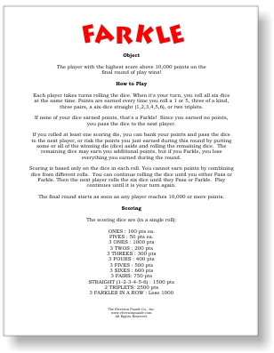photo regarding Free Printable Farkle Sheets known as farkle cube activity guidelines Game titles Worldwide