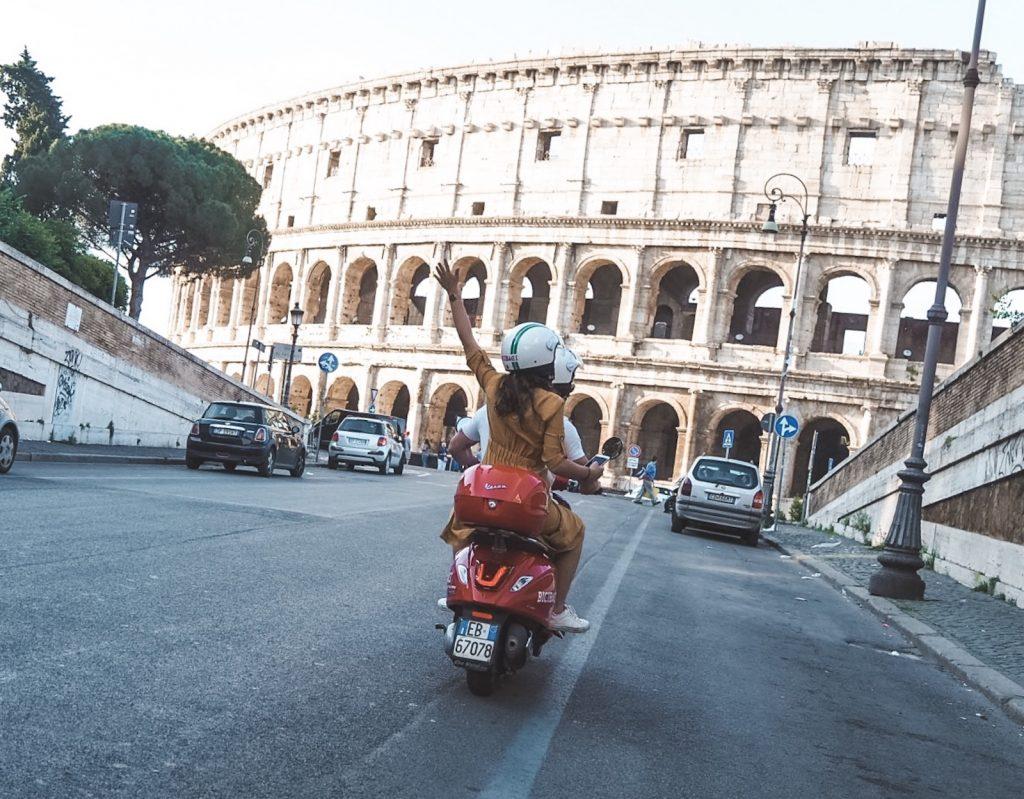 Vespa en Roma