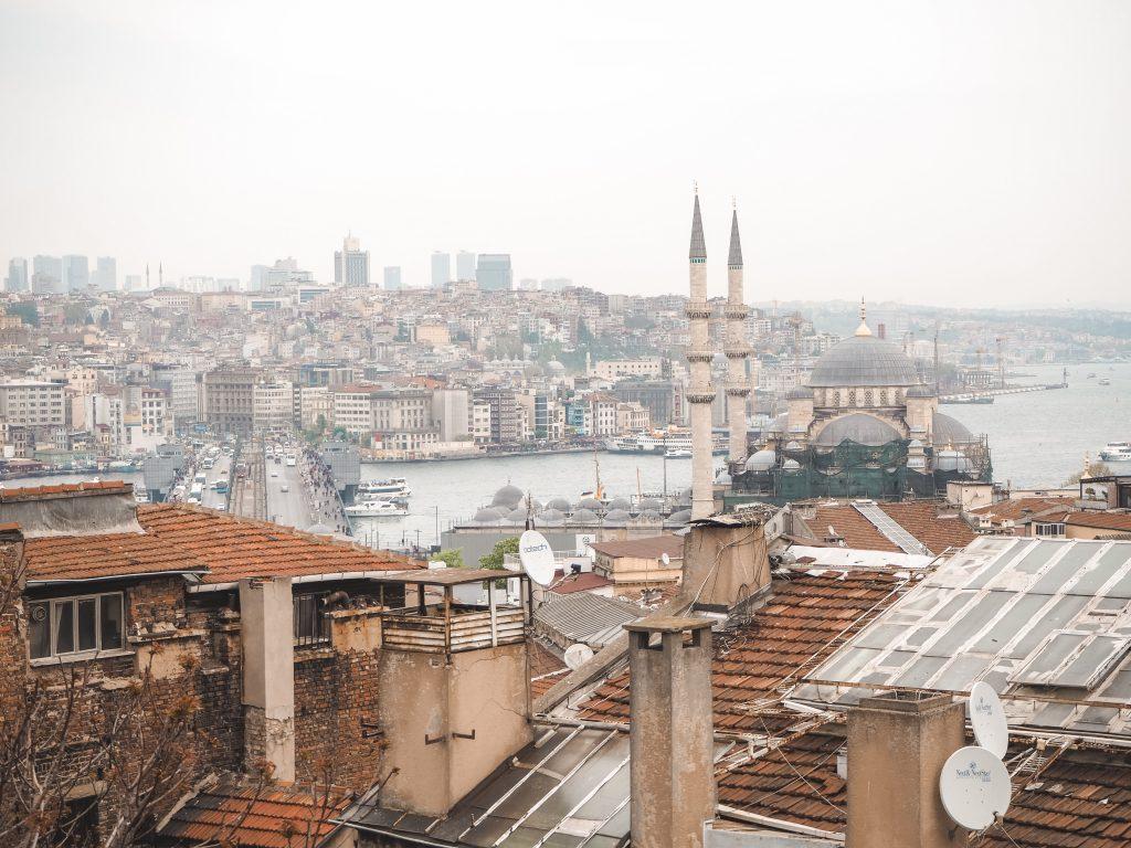 Cafetería con vistas en Estambul