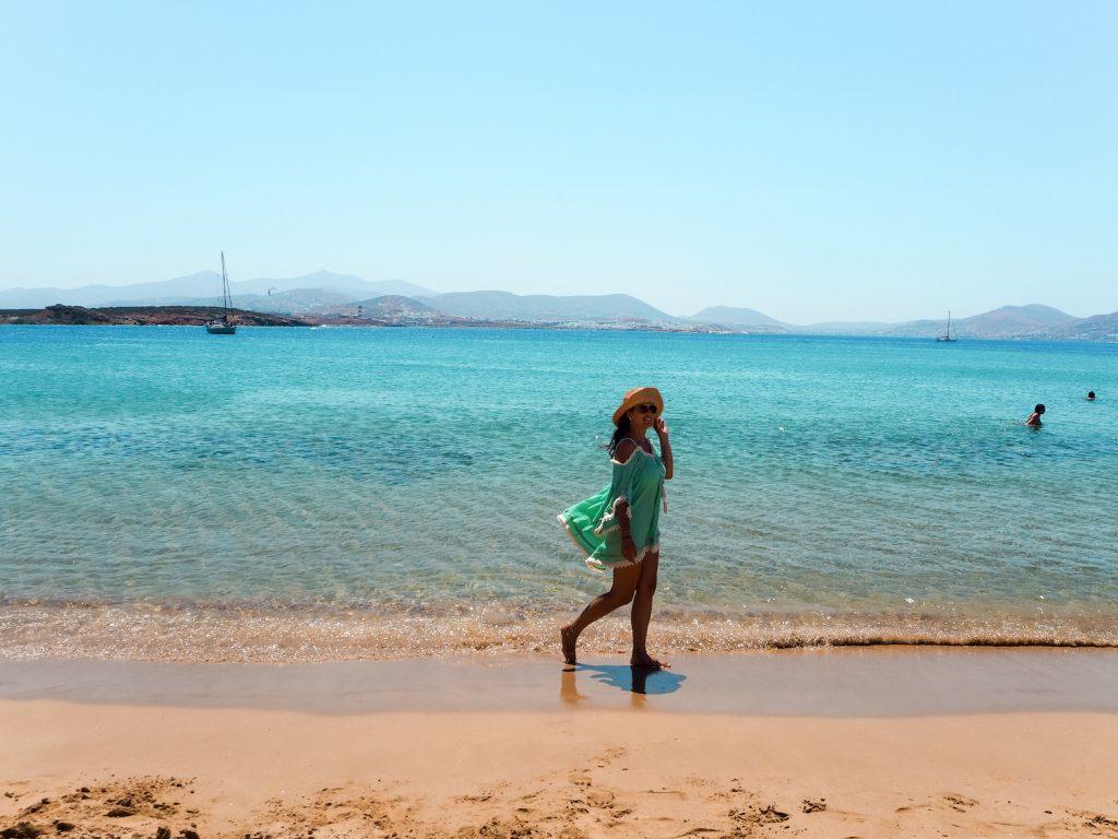 Playa Langeris en Paros