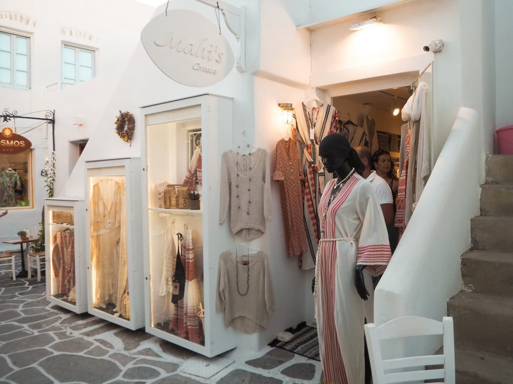 Tiendas en Naoussa