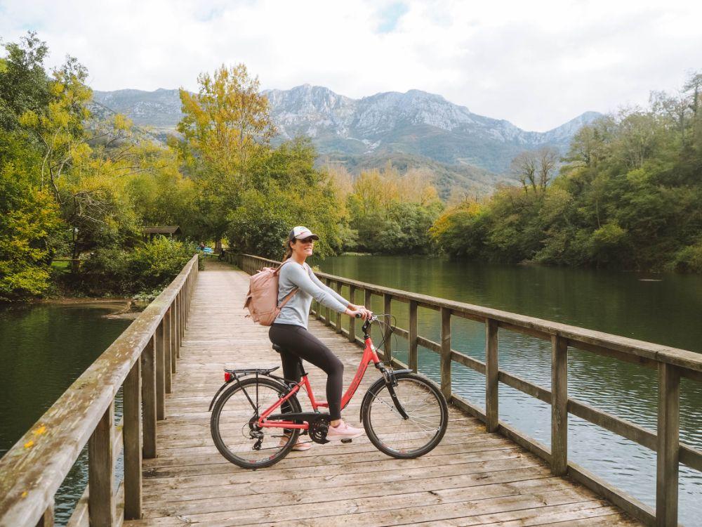 Senda del Oso en bicicleta