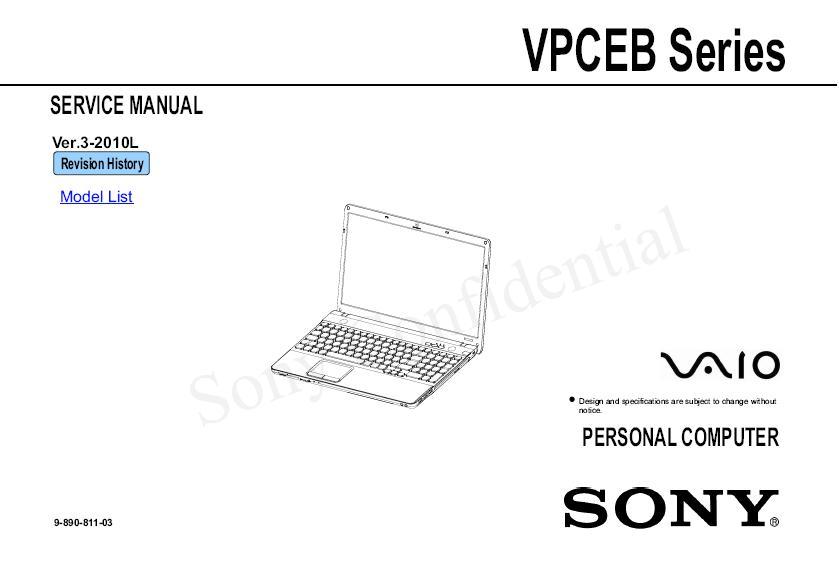 Sony VPCEA VPCEB VPCEE E series EA EB EE • Forum ELVIKOM