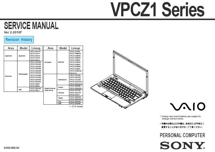 SONY VPCZ series VPC-Z • Forum ELVIKOM