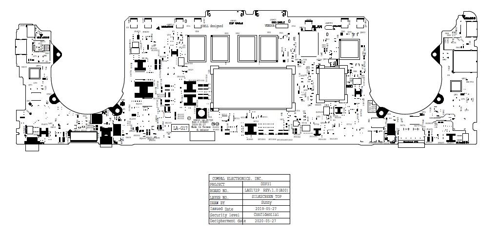 Schemat Dell XPS 13 7390 2-in-1 Compal DDP31 LA-G172P