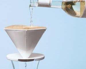 Filtrado de vino con filtro de cafe