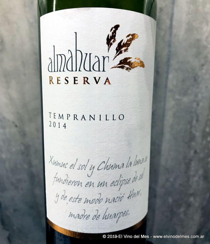 Resumen 2019 de El Vino del Mes - Enero: Almahuar Tempranillo 2014