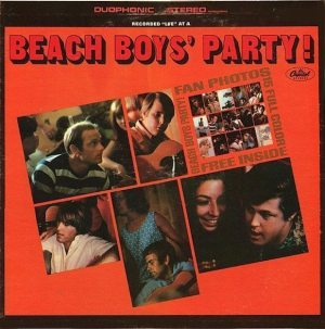 Electronically Reprocessed Stere: front cover of original fake stereo BEACH BOYS' PARTY! album.