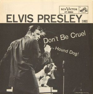 Number One: picture sleeve for DON'T BE CRUEL (1956).
