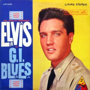 Electronically Reprocessed Stereo: front cover of original stereo G.I. BLUES album.