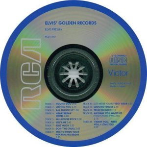 Electronically Reprocessed Stereo: compact disc of original fake stereo CD reissue of ELVIS' GOLDEN RECORDS.