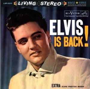 Electronically Reprocessed Stereo: front cover of original stereo ELVIS IS BACK album.