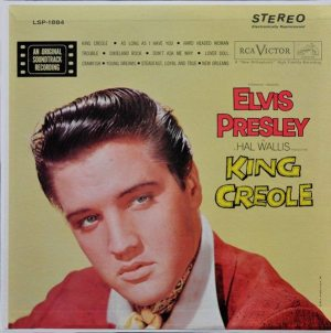 Electronically Reprocessed Stereo: front cover of original stereo KING CREOLE album.