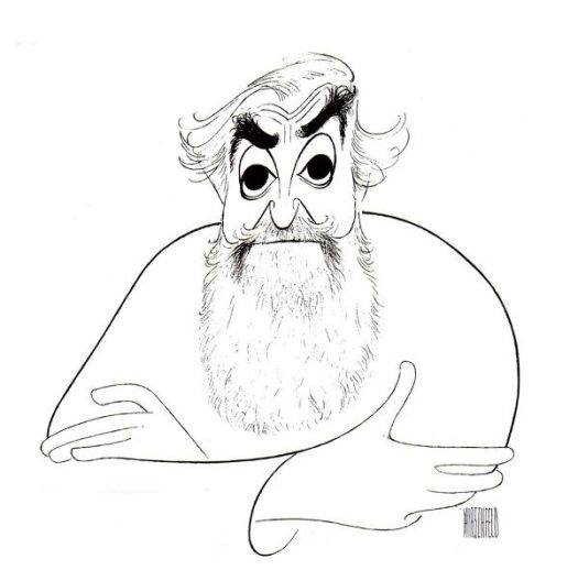 Hirschfeld and Elvis: self-portrait by Hirschfeld.