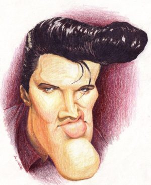 Golden Caricatures Volume 1: caricature of Elvis by Don P.