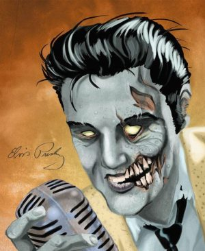 Golden Caricatures Volume 4: caricature of Elvis by Daniel Kukic.