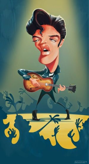 Golden Caricatures Volume 3: caricature of Elvis by Todd.