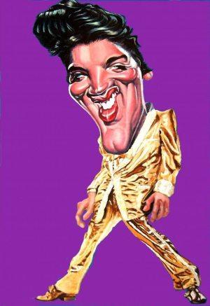 Golden Caricatures Volume 3: caricature of Elvis by Tonio.
