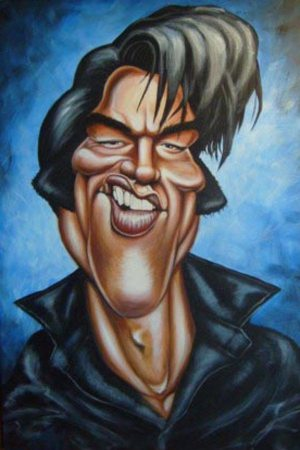 Golden Caricatures Volume 6: Elvis in NBC-TV special in 1968 by Mick H.