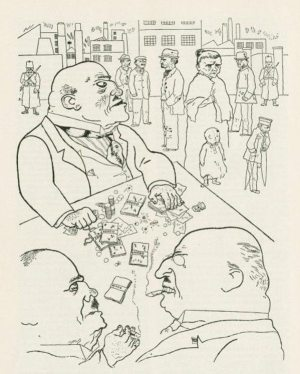 """Golden Caricatures Volume 1: drawing by George Grosz """"Toads."""""""