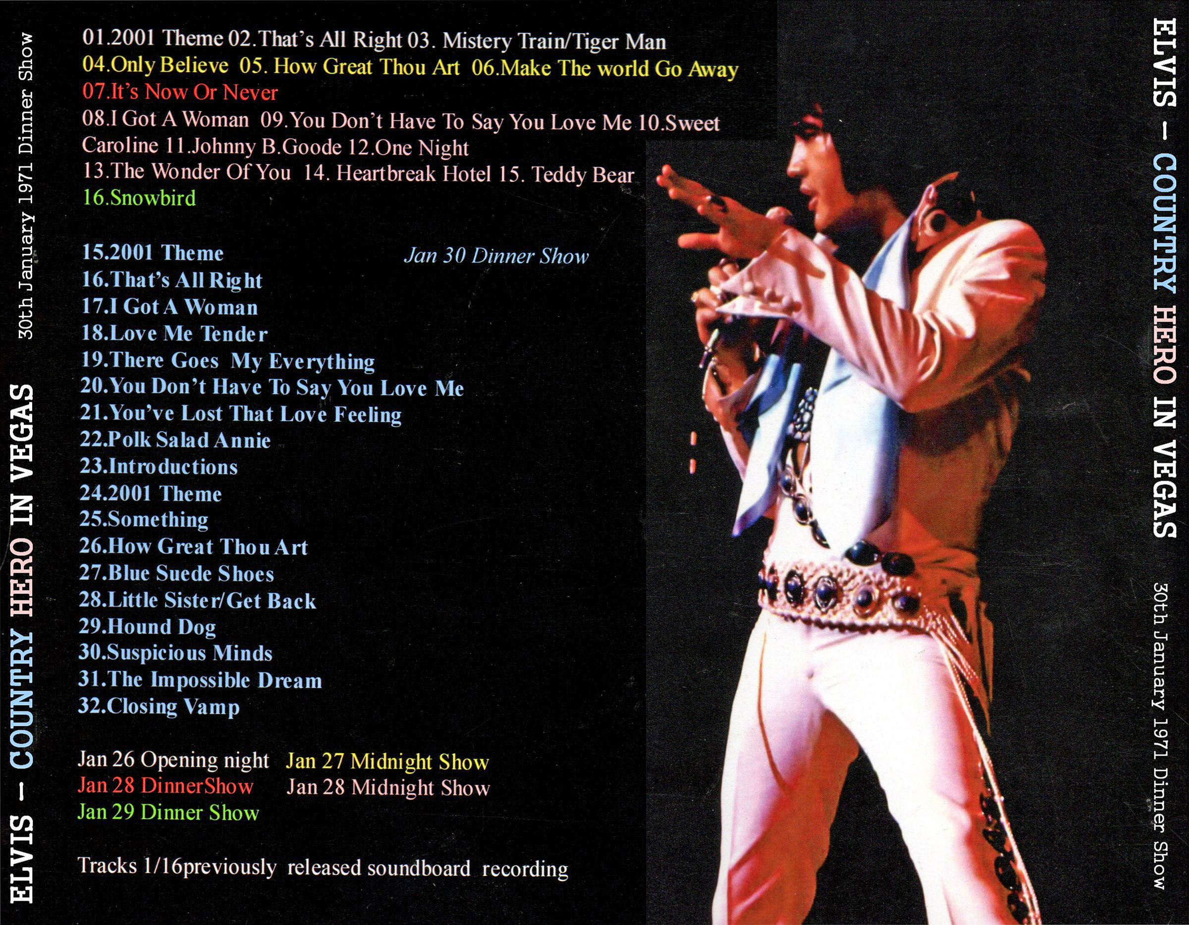 Image result for Elvis January 30, 1971
