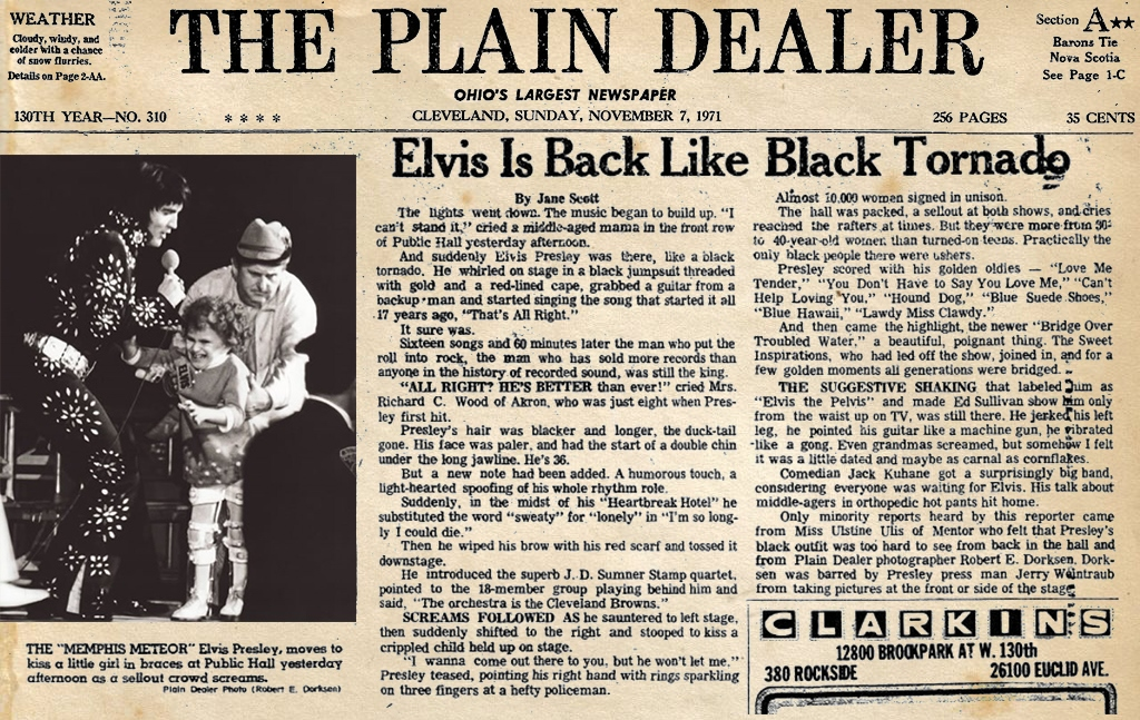 Image result for elvis presley november 7, 1971