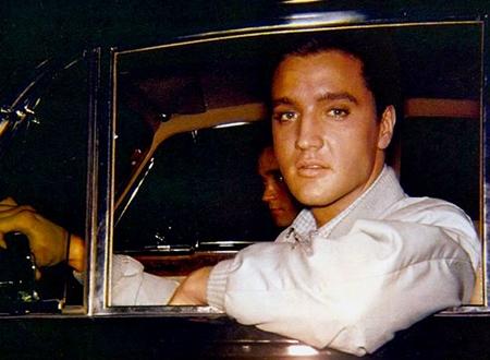 Image result for elvis presley long black limousine images