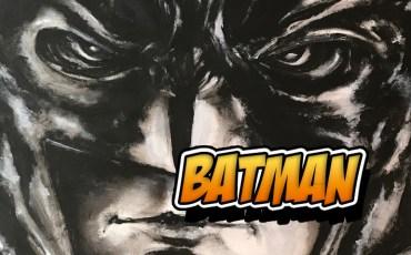 BatMan dipinto senza pennello