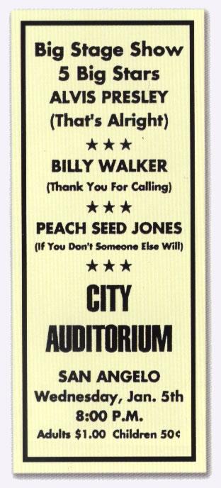 Alvis Presley - January 5, 1955