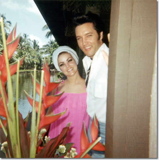 Elvis and Priscilla Presley Graceland - May 28, 1968