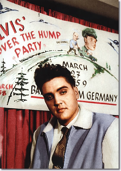 Elvis celebrates the halfway mark of his army stint with an Over the Hump Party - March 27, 1959