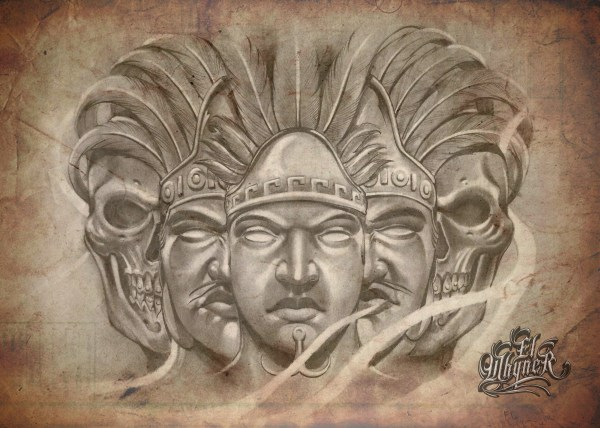 Chicano Art Tattoos and Drawings