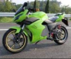 Электромотоцикл ElWinn EM-123 зеленого цвета