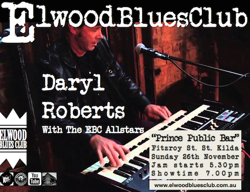 Daryl Roberts at the Elwood Blues Club