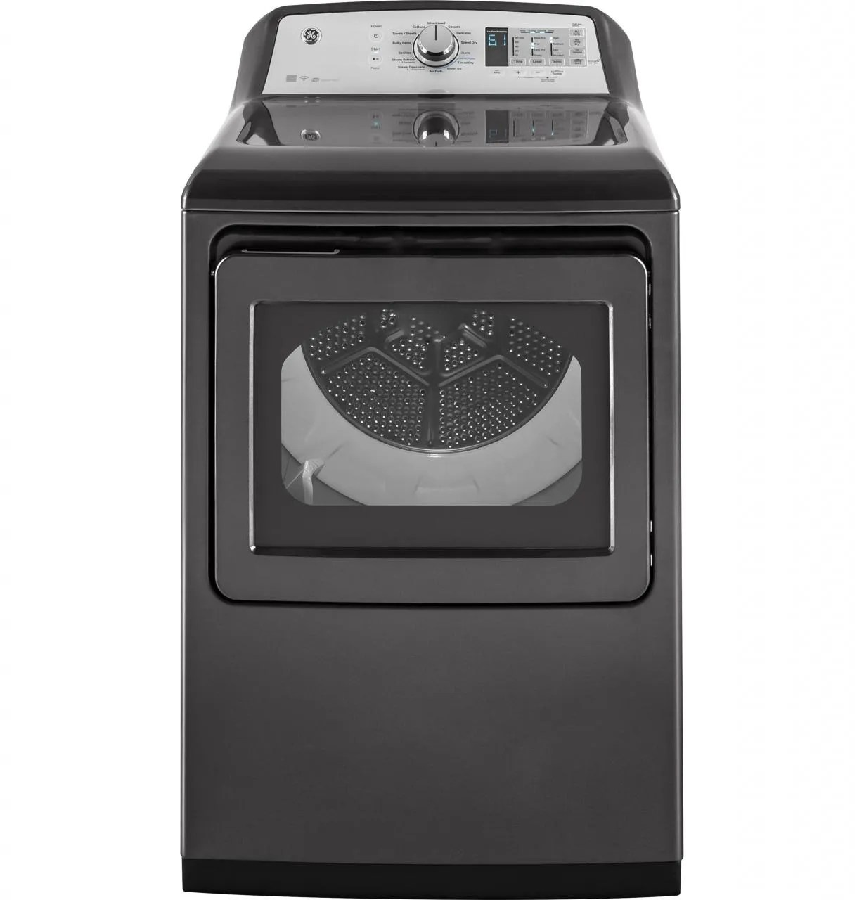 hight resolution of ge front load electric dryer diamond gray gtd75ecpldg