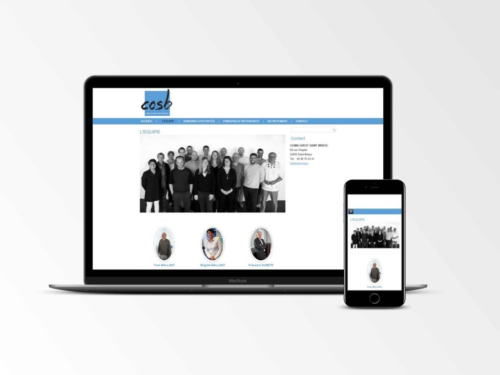 COSB - Site internet