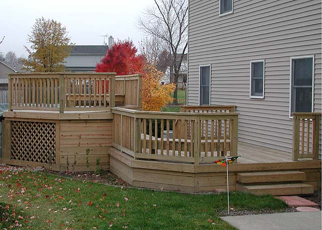 Two Level Deck By Elyria Fence