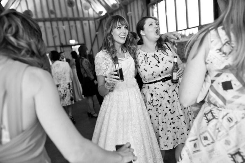 english countryside barn dancing bride girlfriend