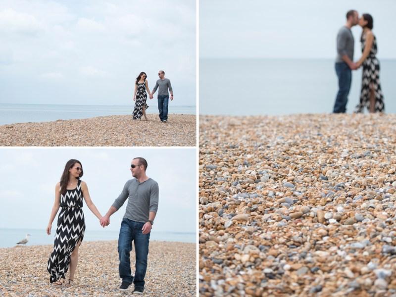 seaside engagement photography beach walk