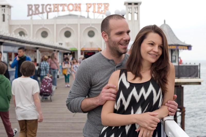 seaside engagement photography brighton pier