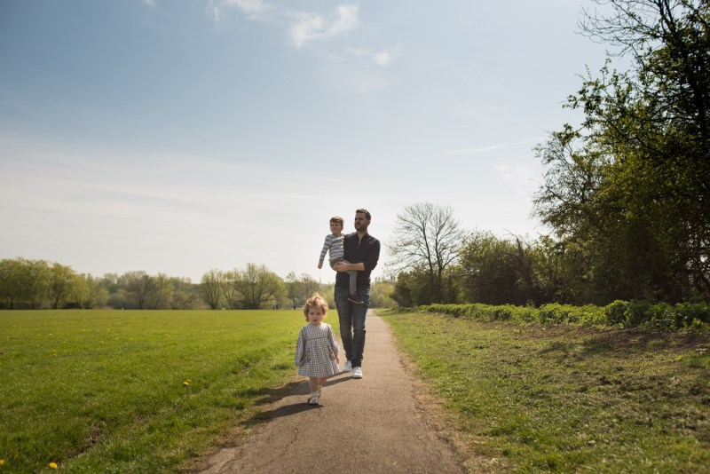 family shoot in a park in Essex