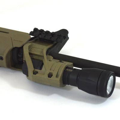 ZPR1500 Rail Kit installed on ZFH1500 Flashlight Mount