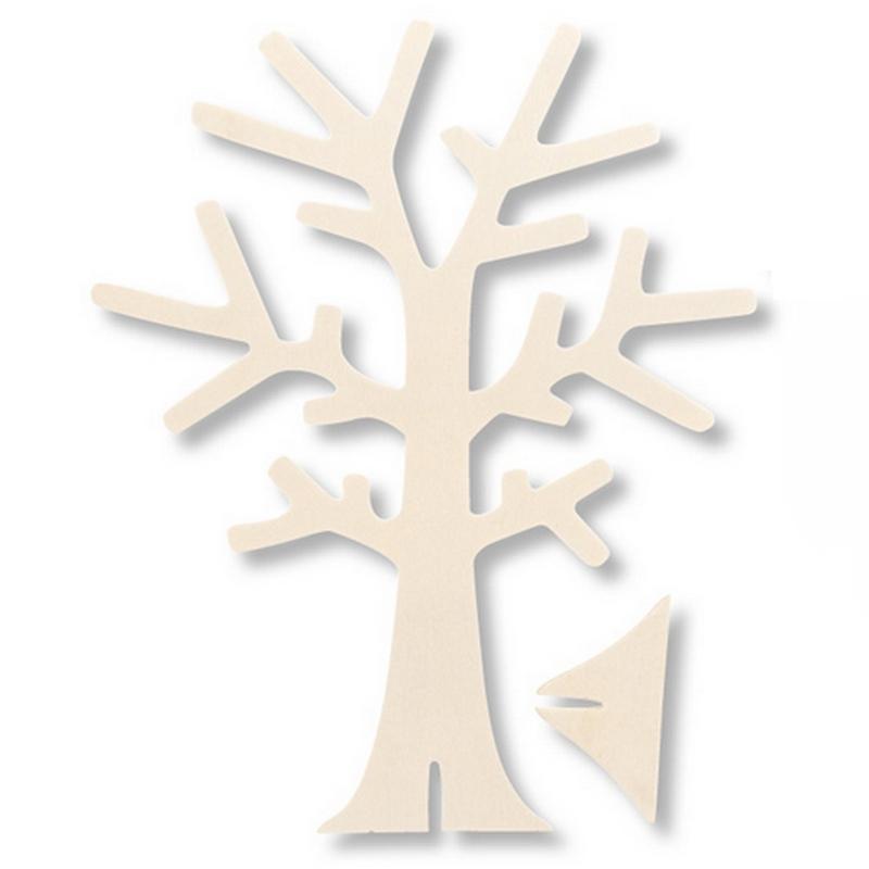 Porte Bijoux En Forme D Arbre En Bois A Decorer