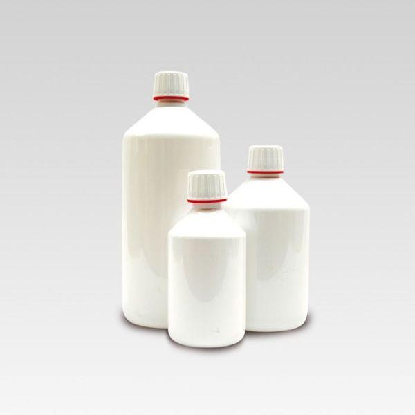 Produktbild Flaschen aus weissem Plastik mit Deckel