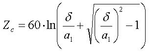Characteristic Impedance Equation