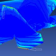 E-Field Plot for Aircraft P-Static Simulation