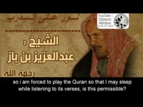 Is listening to the Quran while going to sleep permissible