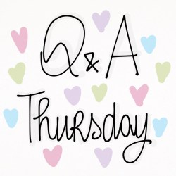 Q&A THURSDAY: IL MIO REGALO PER VOI!