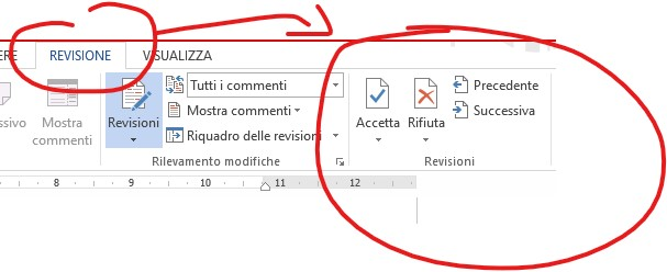Revisioni di Microsoft Word