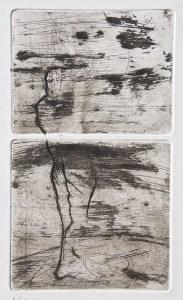 Emanuele Convento - Si bene memeni, 2015 ceramolle, acquaforte, maniera pittorica e bulino, mm 270 x 160 (assieme)